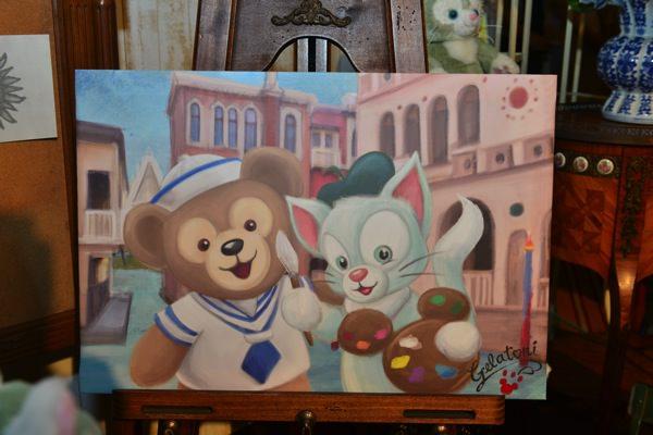 ダッフィーと仲良しの絵画
