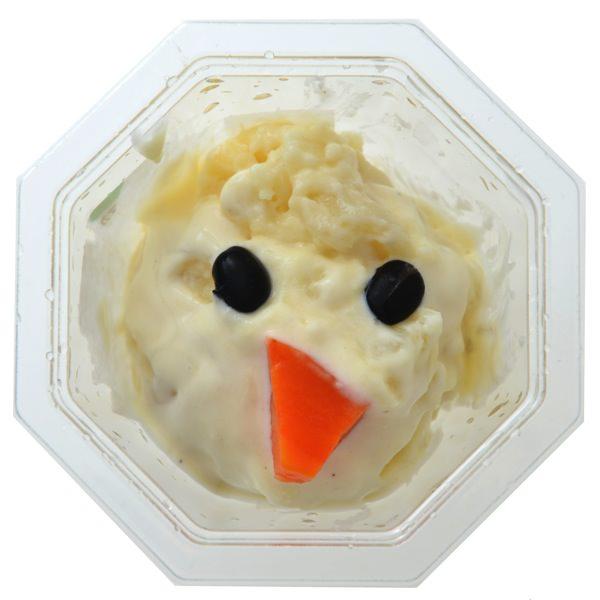 チーズソースをかけたマカロニポテトグラタンオラフ中身