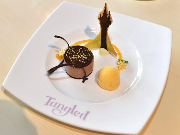 チョコレートジャンドゥージャムース マンダリンシャーベットと共に