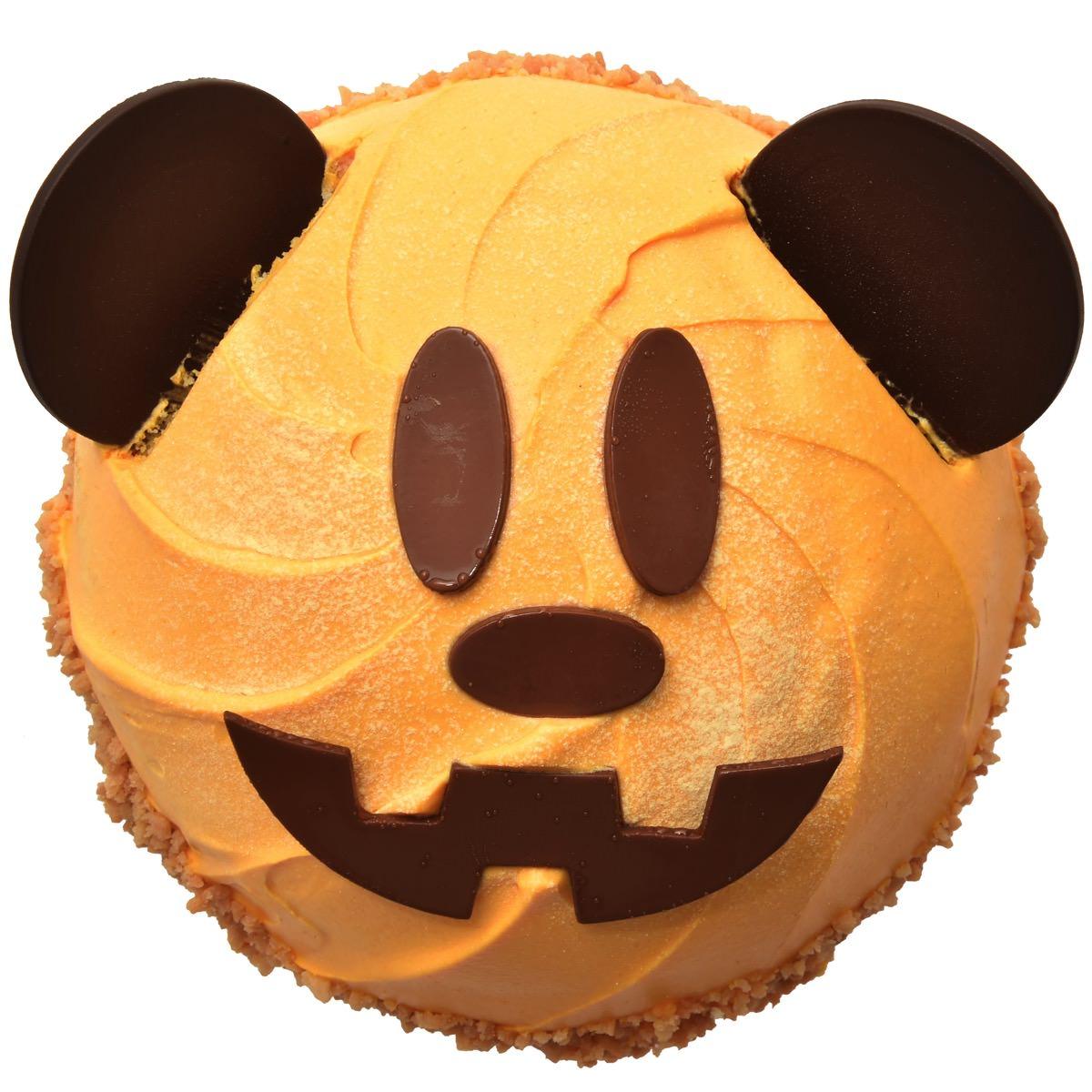 パンプキンケーキ(ミッキーマウス)上から