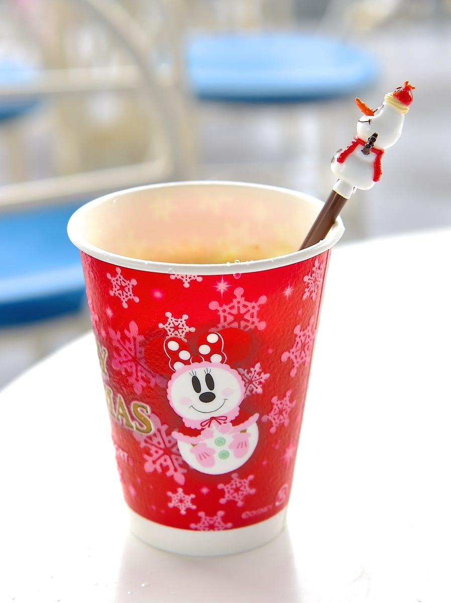 | オラフのスーベニアスプーン付き☆ディズニークリスマス2015エッグノッグ