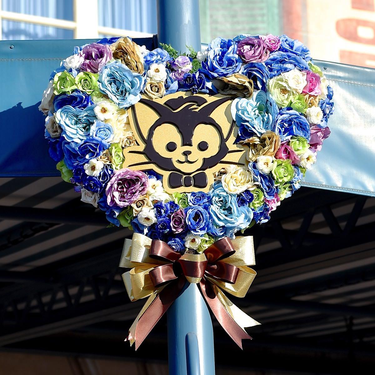 ジェラトーニハート型お花デコレーション