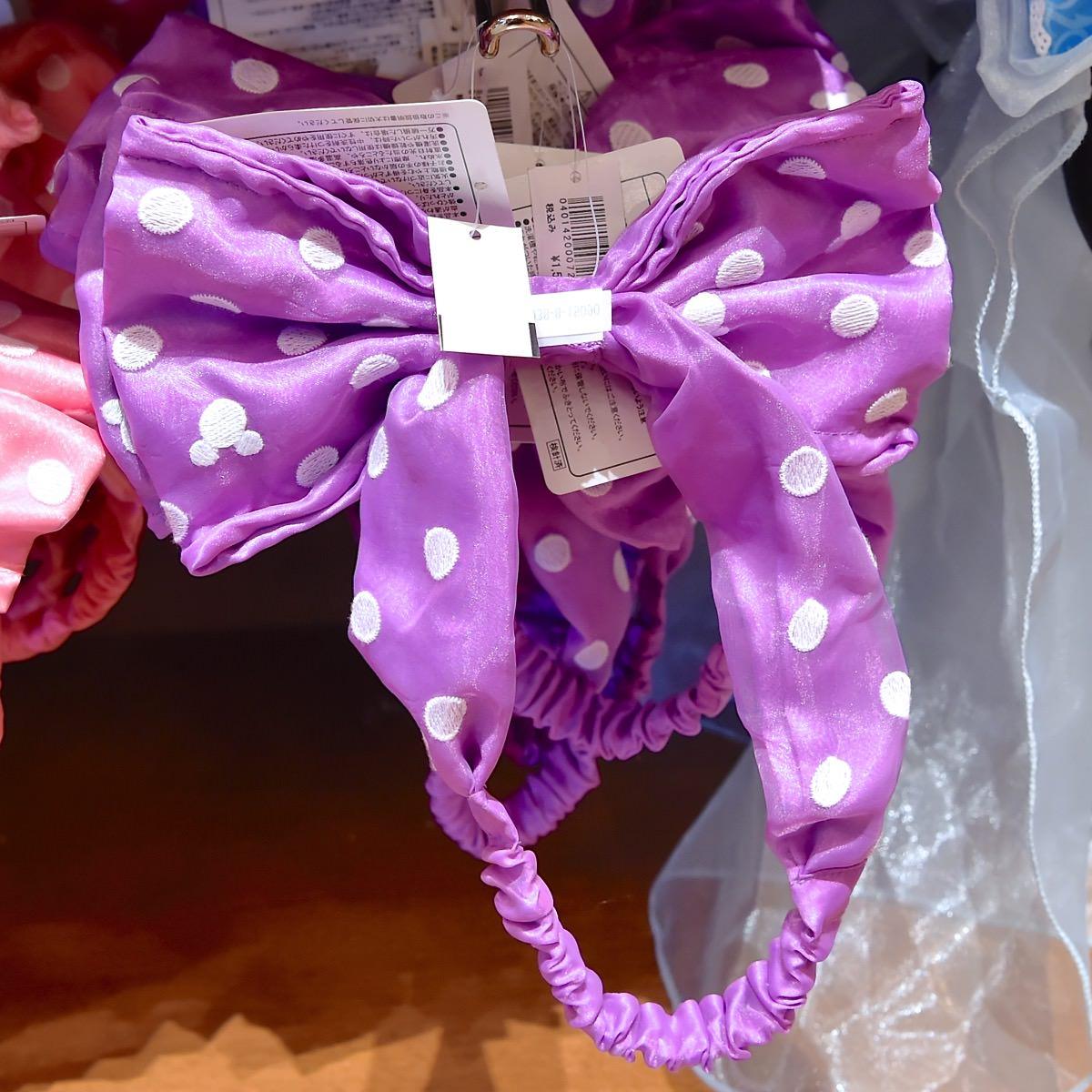 ミニーヘアバンド風カチューシャ(紫)