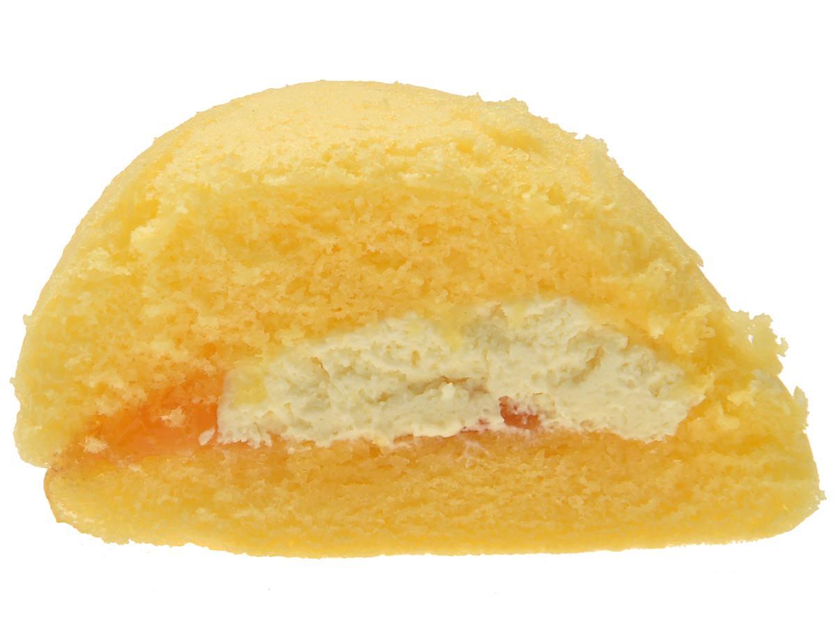 フワフワスフレサンド はちみつ&レモンクリーム断面