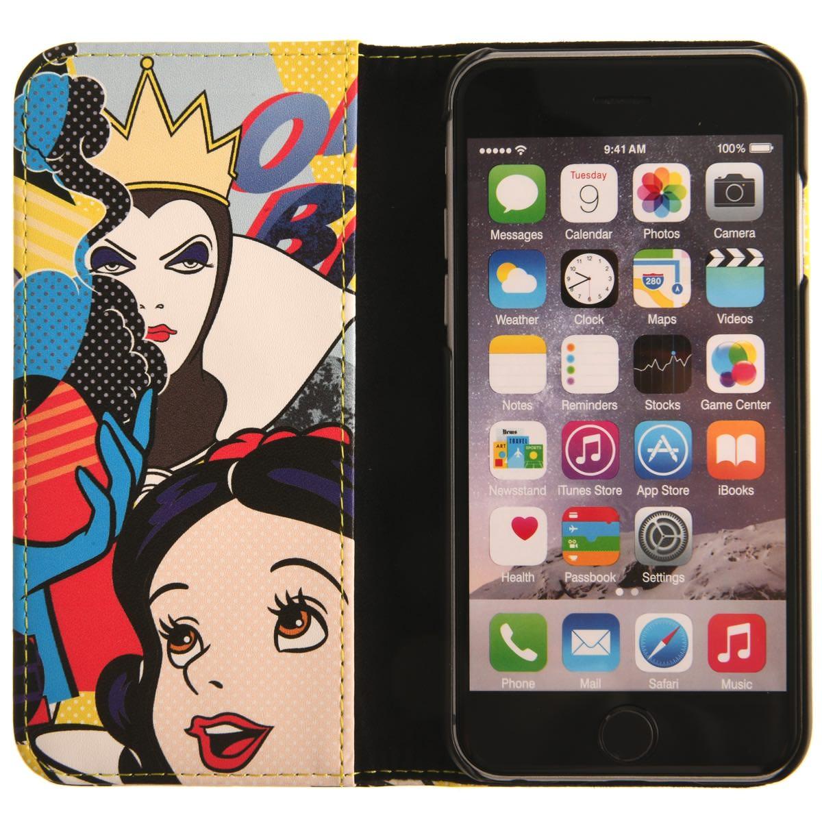 スマホブックカバーケース スノーホワイト グロッシーポップアート(iPhone 7)内側