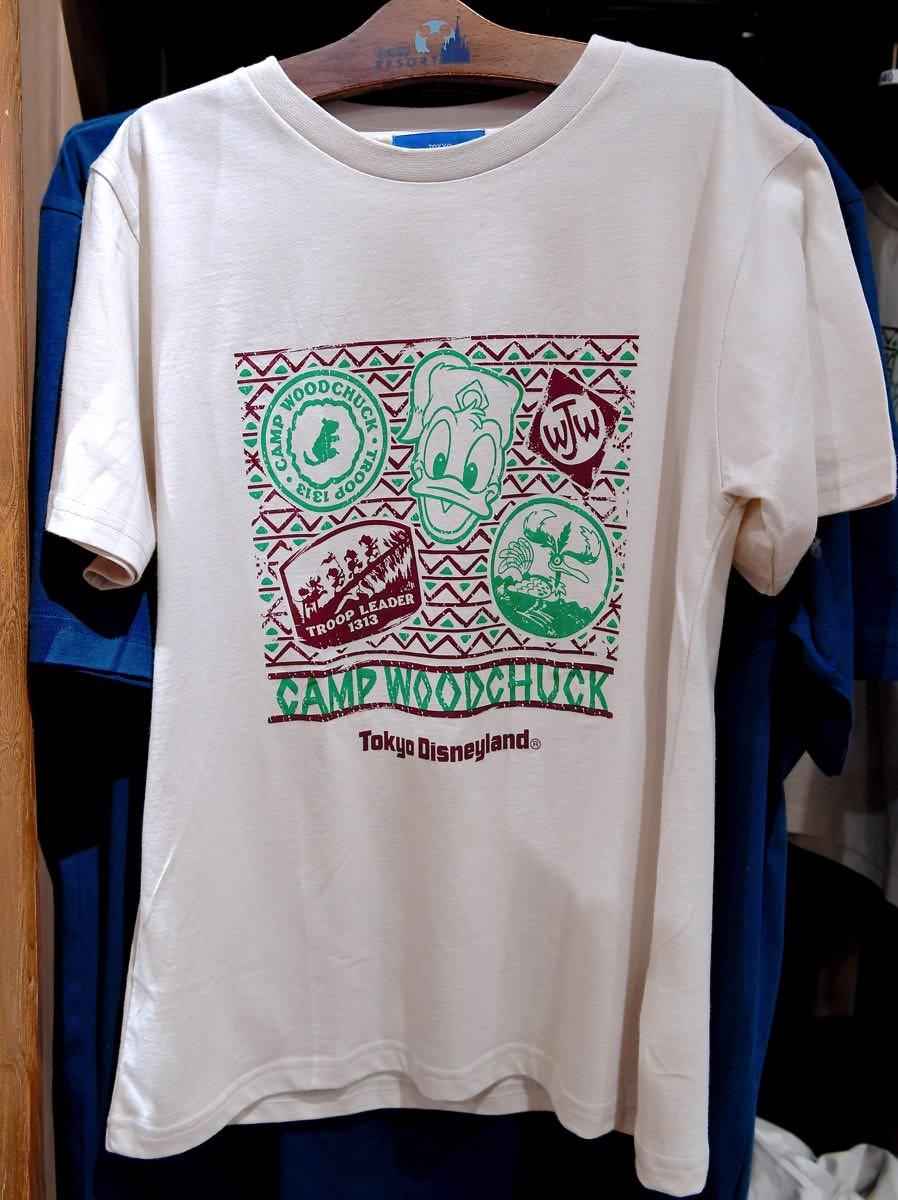 キャンプ・ウッドチャックTシャツ(白)