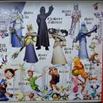 「キングダムハーツ」キャラクター壁画9