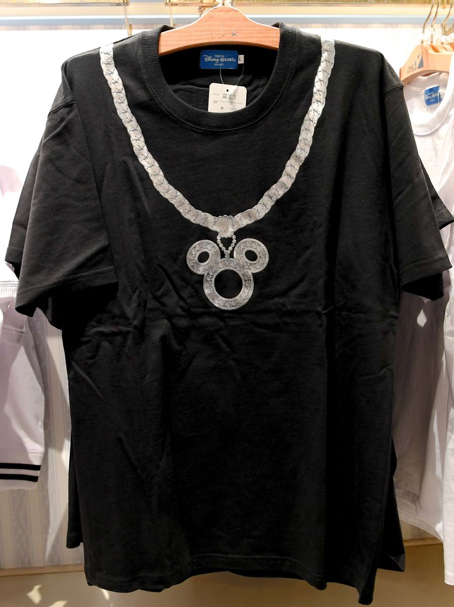 ミッキーネックレスデザインTシャツ(黒)