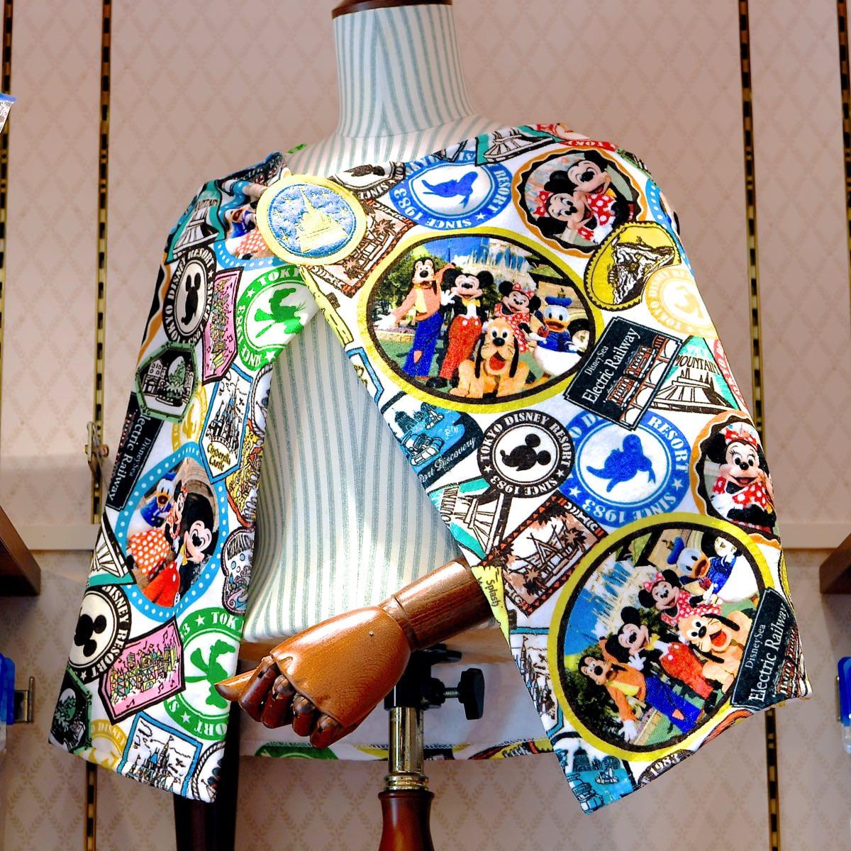 ミッキー&フレンズ実写デザインフード付きタオル 着用例