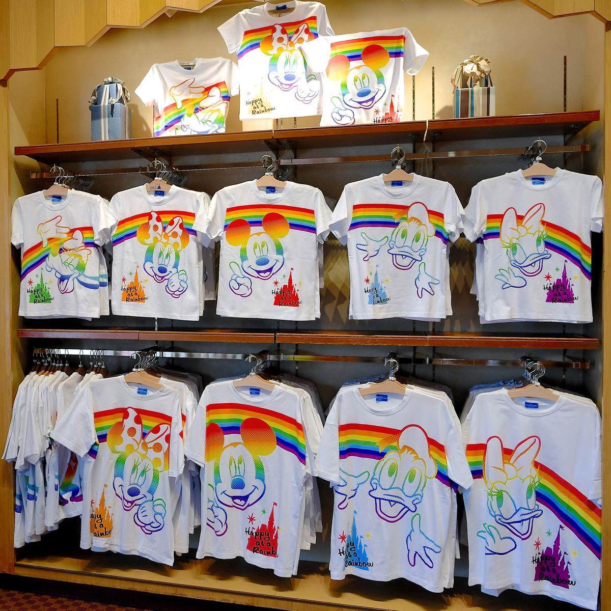 ミッキー&フレンズパークにレインボー(虹)をかけようTシャツ