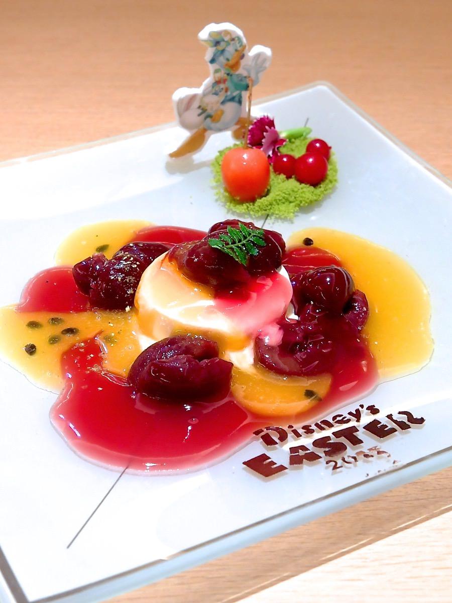 チェリージュビレ バニラアイスクリーム添え  パッションフルーツのソース 山椒の香り アップ