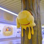 東京メトロ新宿駅・メトロプロムナード『くまのプーさん』デコレーション