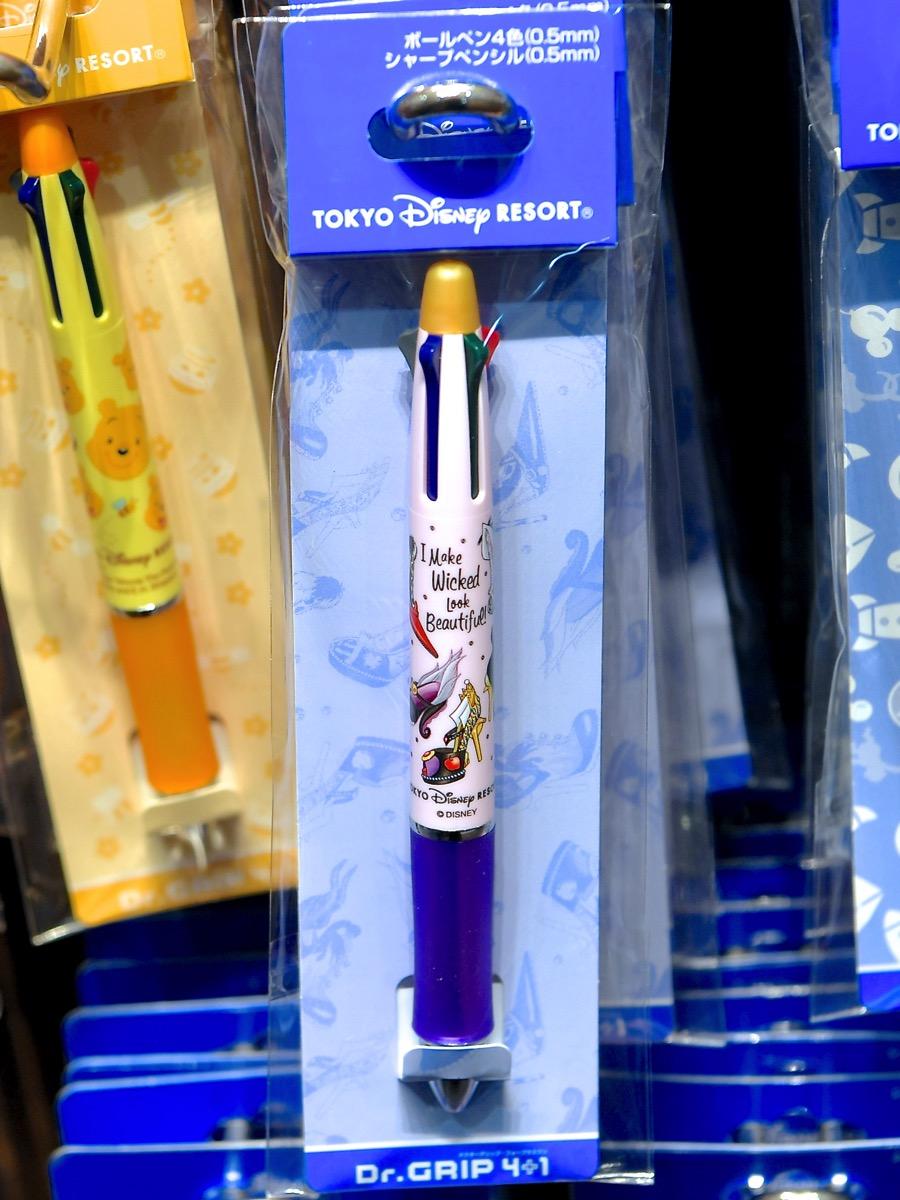 ヴィランズシューズデザインシャープペンシル&4色ボールペン