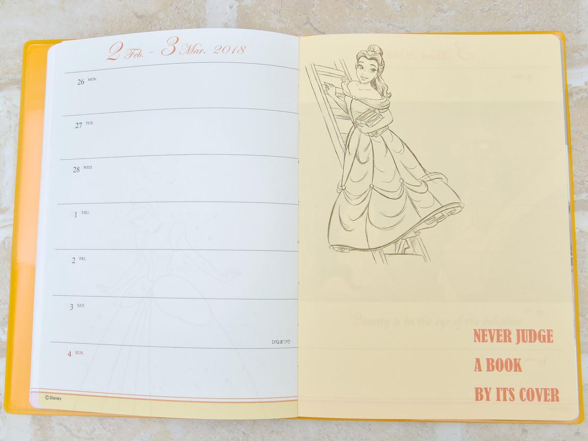 デルフィーノ ディズニーウィークリータイプB6サイズ手帳ディズニープリンセスウィークリー3