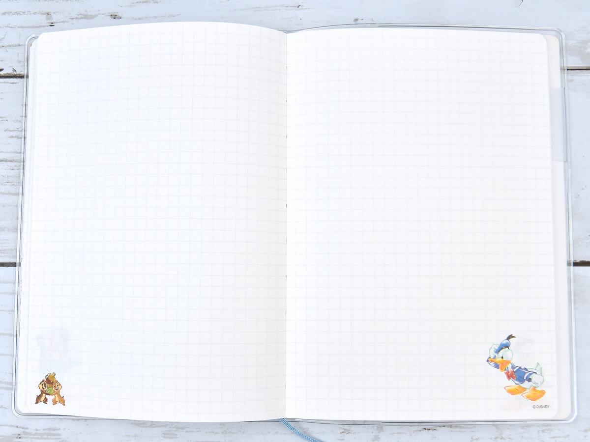 カミオジャパン ディズニー ドナルド&チップ&デール マンスリー手帳B6 メモ2