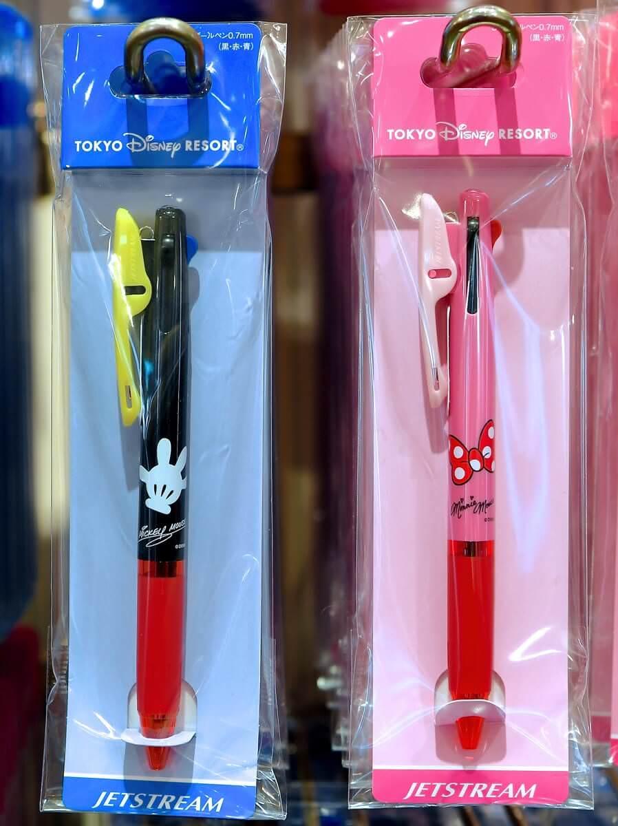 ミッキーグローブ・ミニーリボン3色ボールペン