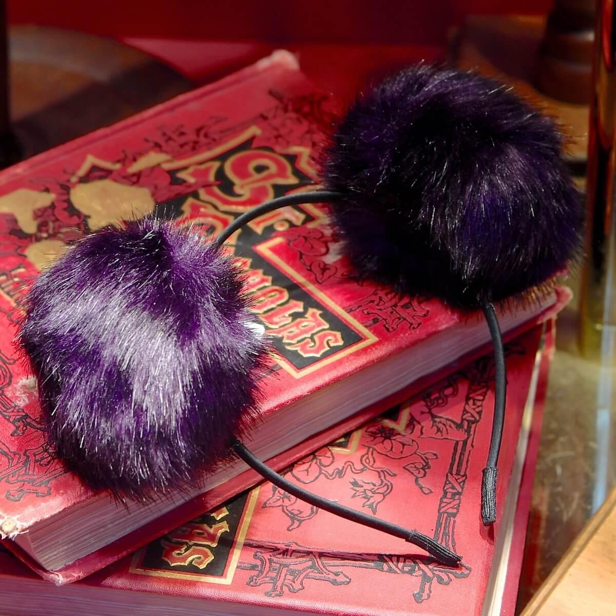 ミッキーポンポンカチューシャ(紫)