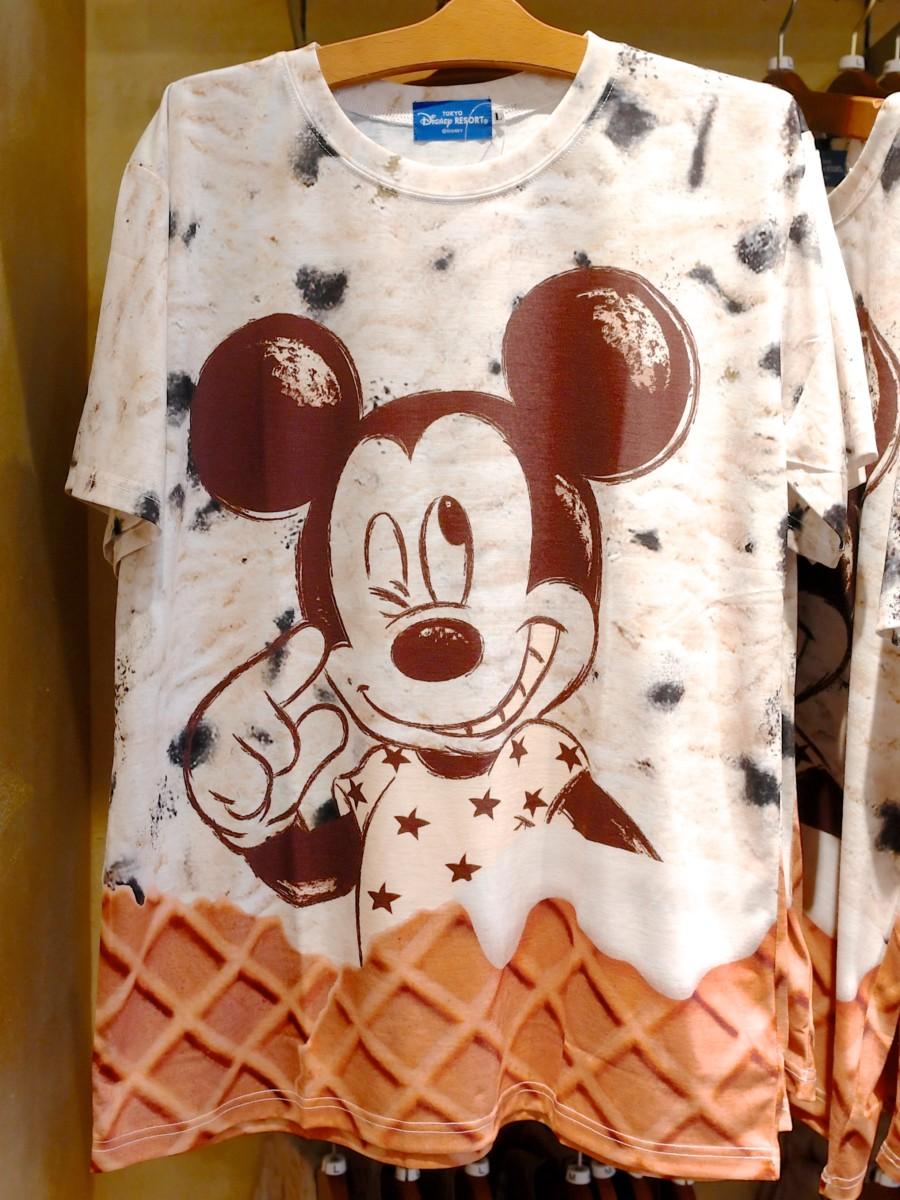 ミッキー アイスクリームデザインTシャツ