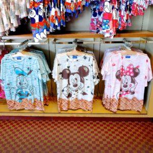 東京ディズニーランド ミッキー・ミニー・ドナルドアイスクリームTシャツ