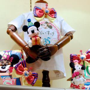 東京ディズニーリゾート「MY HAPPIEST BIRTHDAY!」シールデザインTシャツ