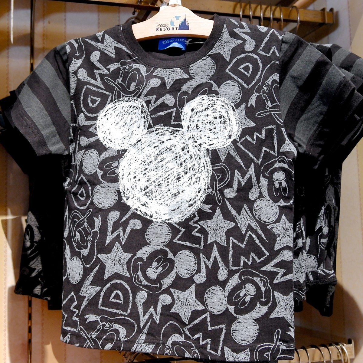 ミッキーマークTシャツ(黒)