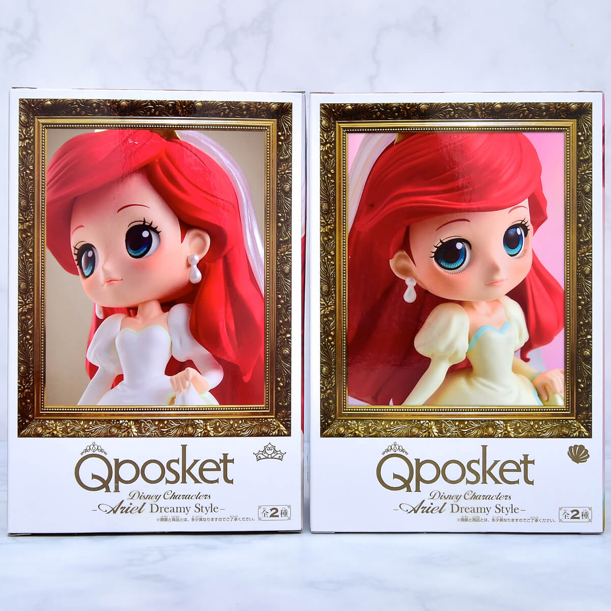 Q posket Disney Characters-Ariel Dreamy Style-パッケージ裏