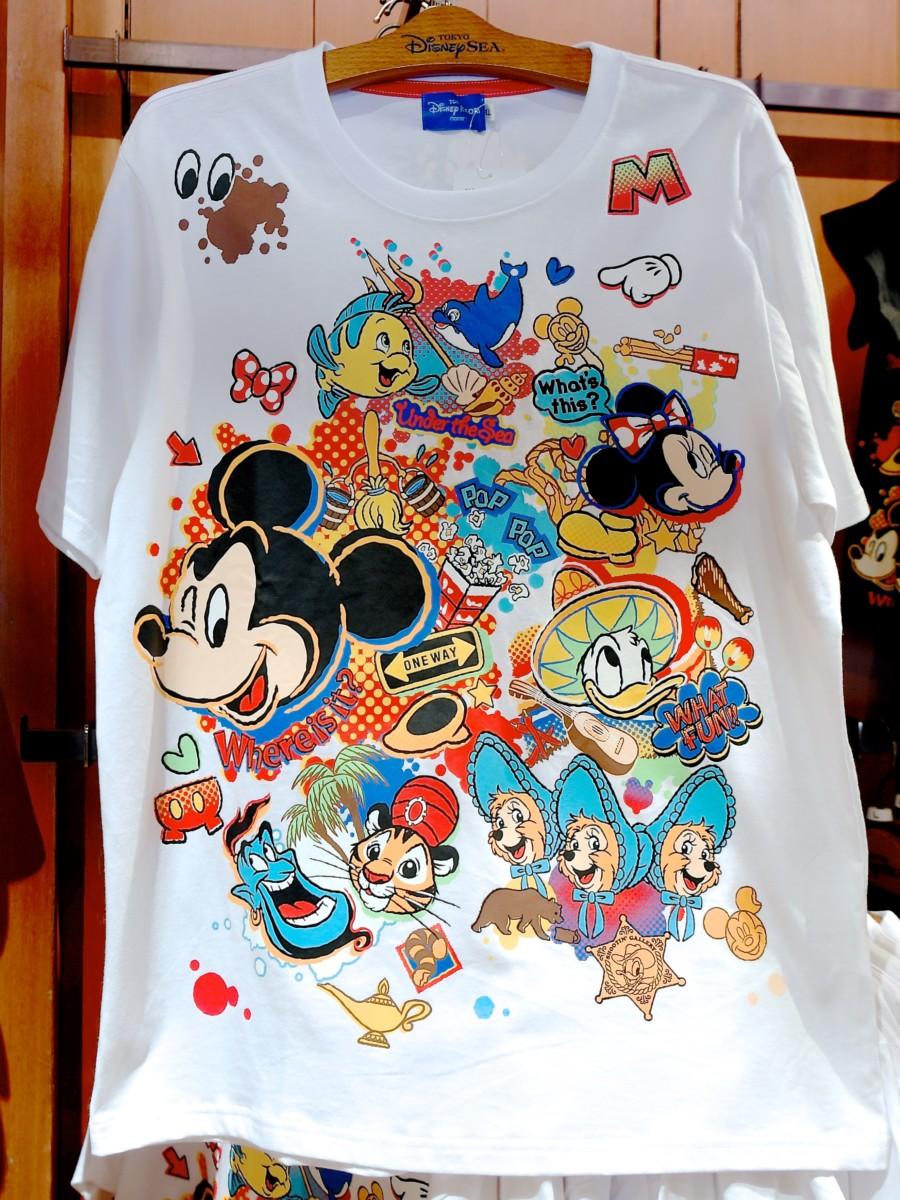 東京ディズニーリゾート柄Tシャツ 白