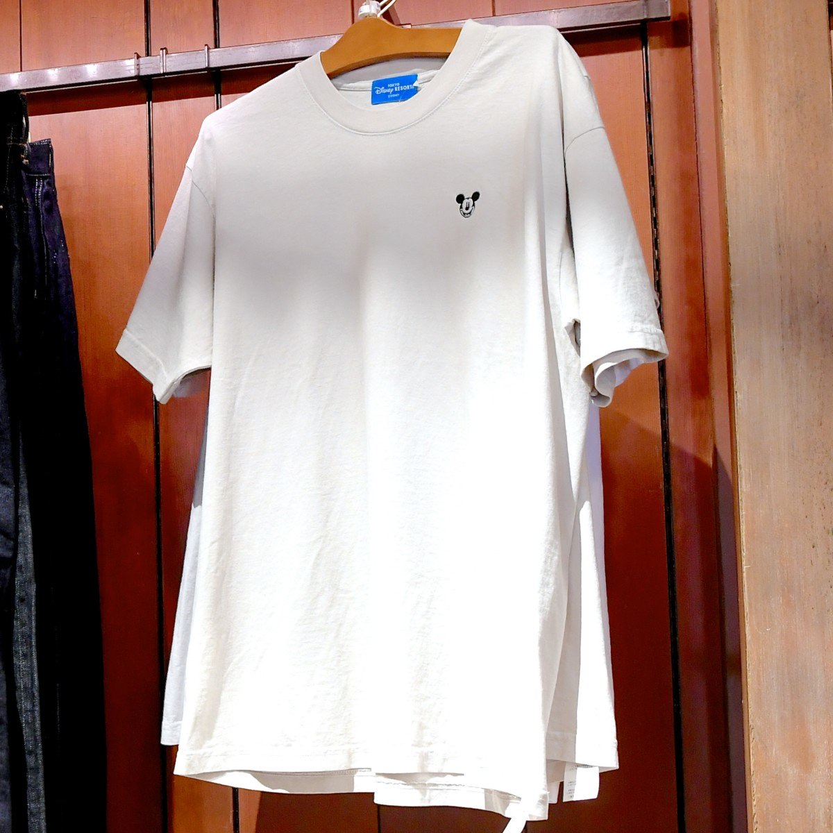 ミッキーワンポイントTシャツ(白)