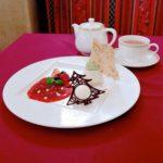 フロマージュブランのムースケーキとマスカルポーネアイス 紅茶