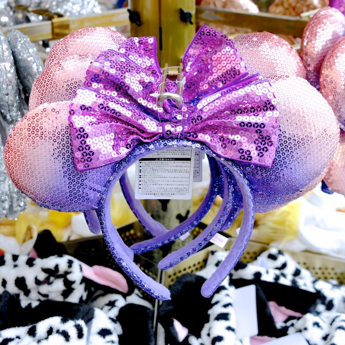 ミニースパンコールカチューシャ 紫
