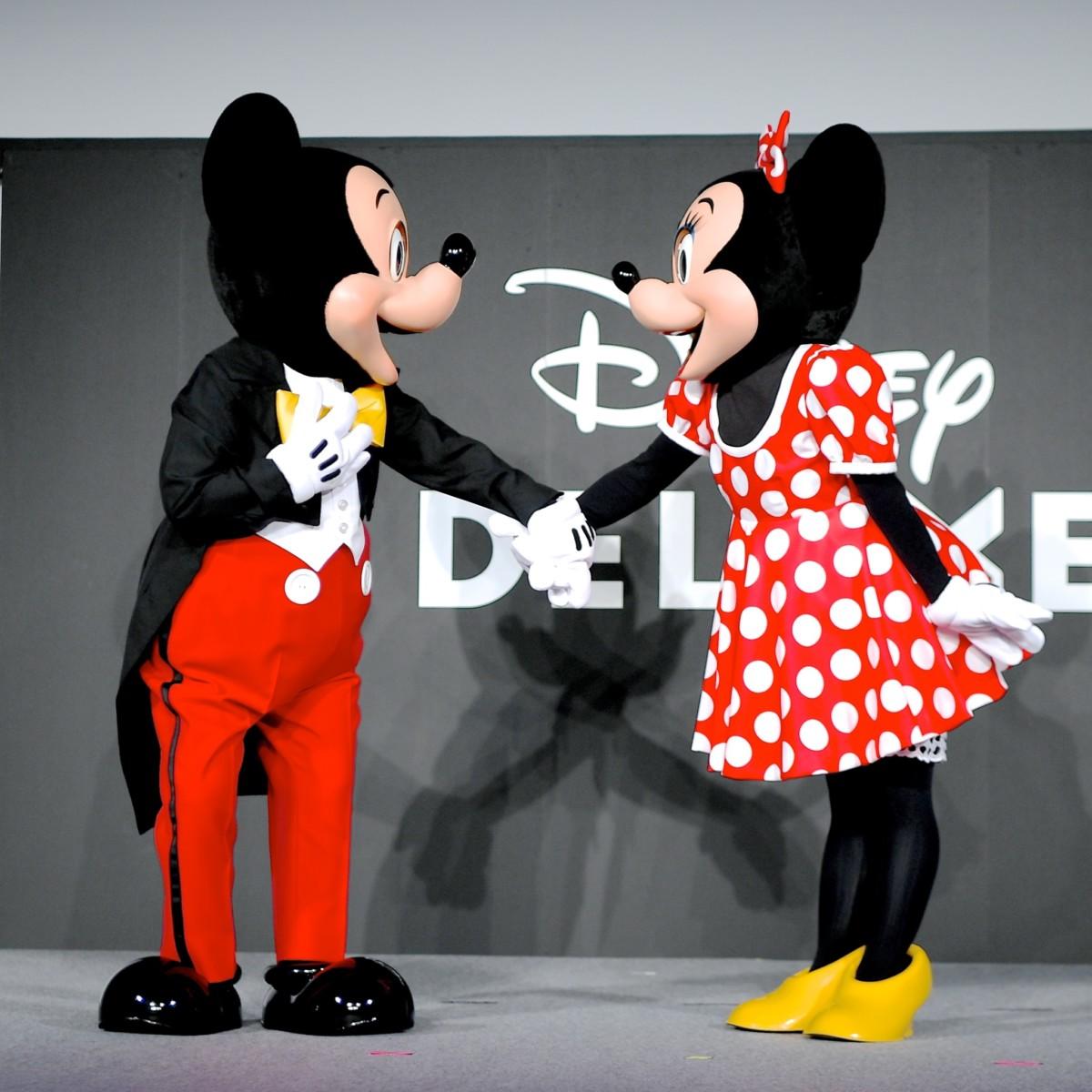 仲良しなミッキー&ミニー