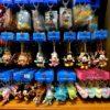 和風な千社札風チャーム付き!東京ディズニーランド「ミッキー&フレンズ」ぬいぐるみストラップ