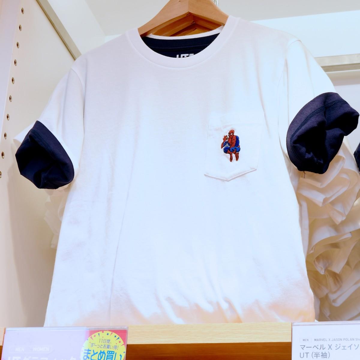 ワンポイントTシャツ スパイダーマン