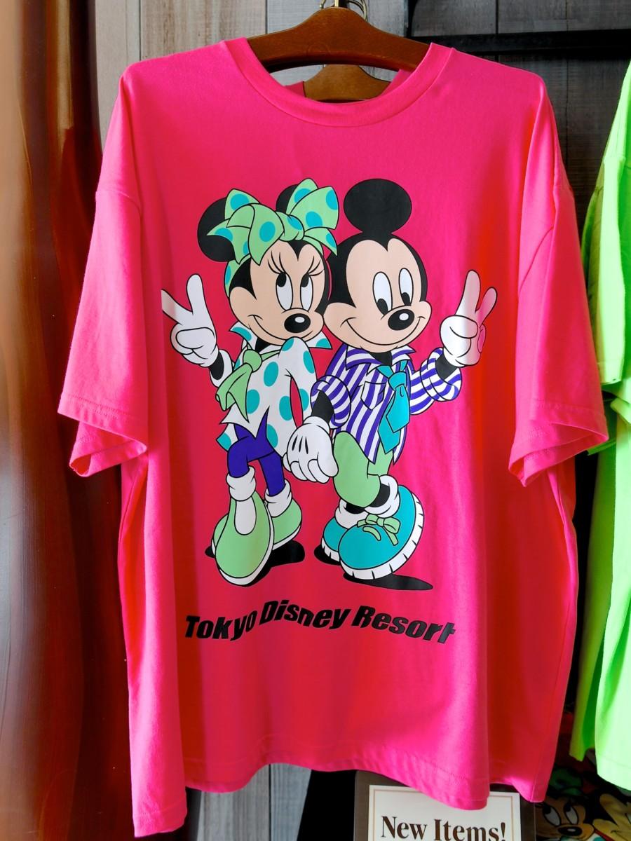 ミッキー&ミニーTシャツ(ピンク)