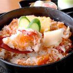 蟹とサーモンとイクラのちらし丼 アップ