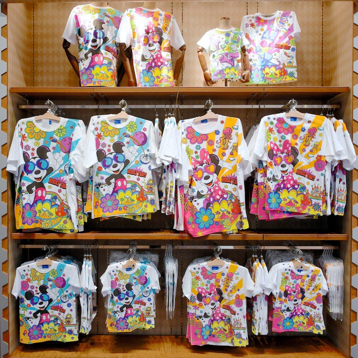 レトロデザインミッキー&フレンズTシャツ