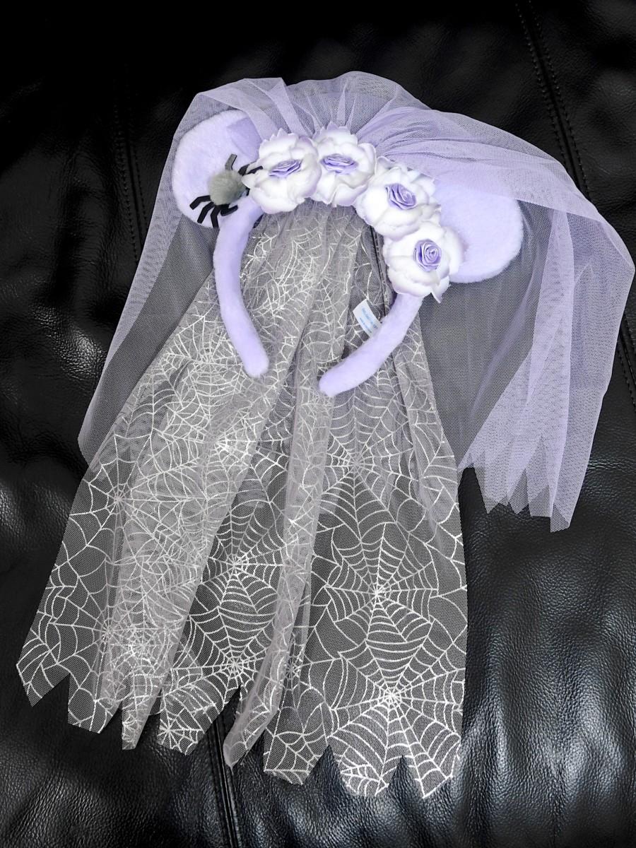 ゴーストの花嫁風カチューシャ