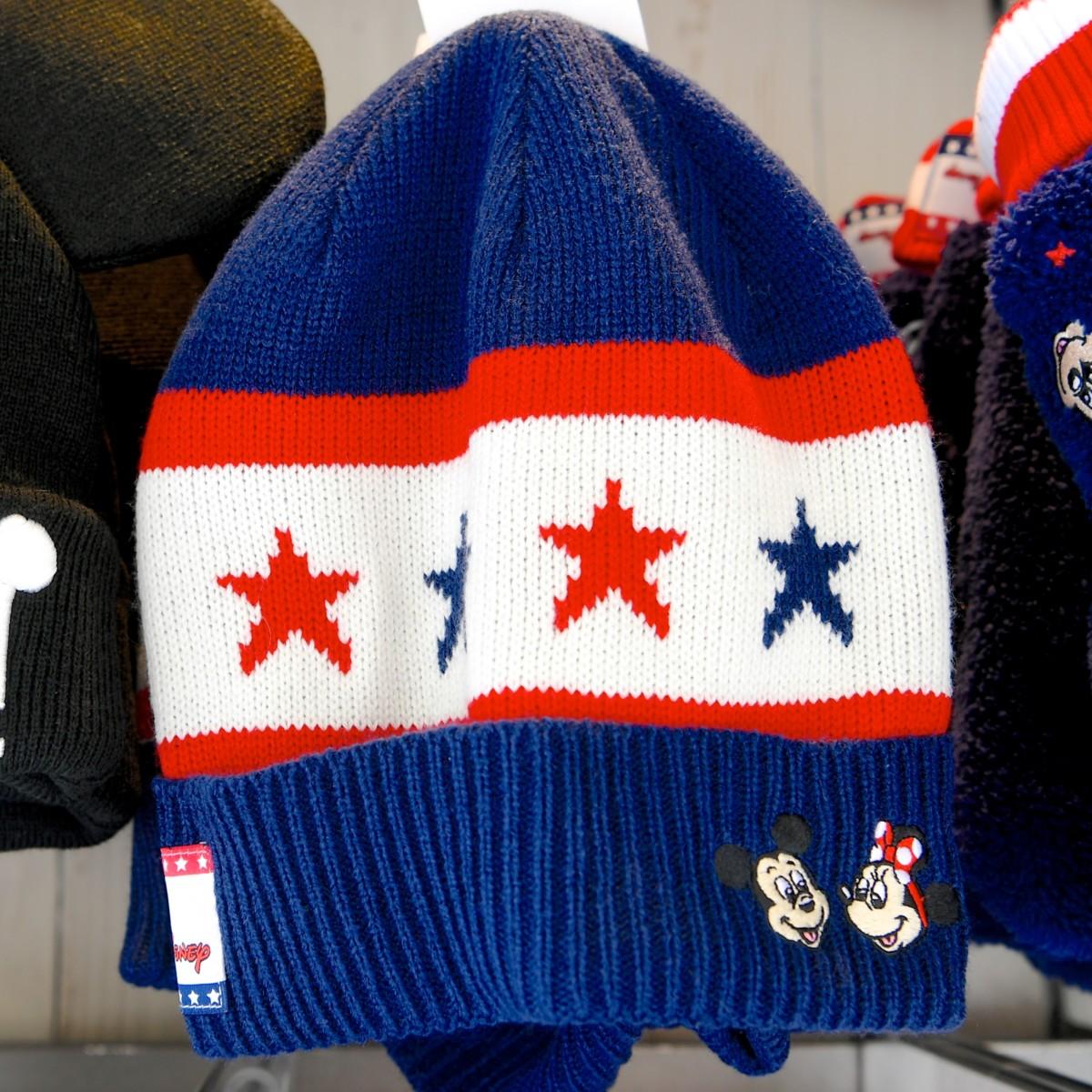 トリコロールカラーチームDisneyニット帽