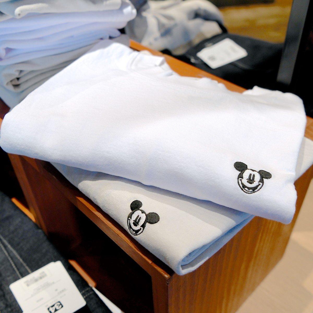ミッキーTシャツ 白・グレー