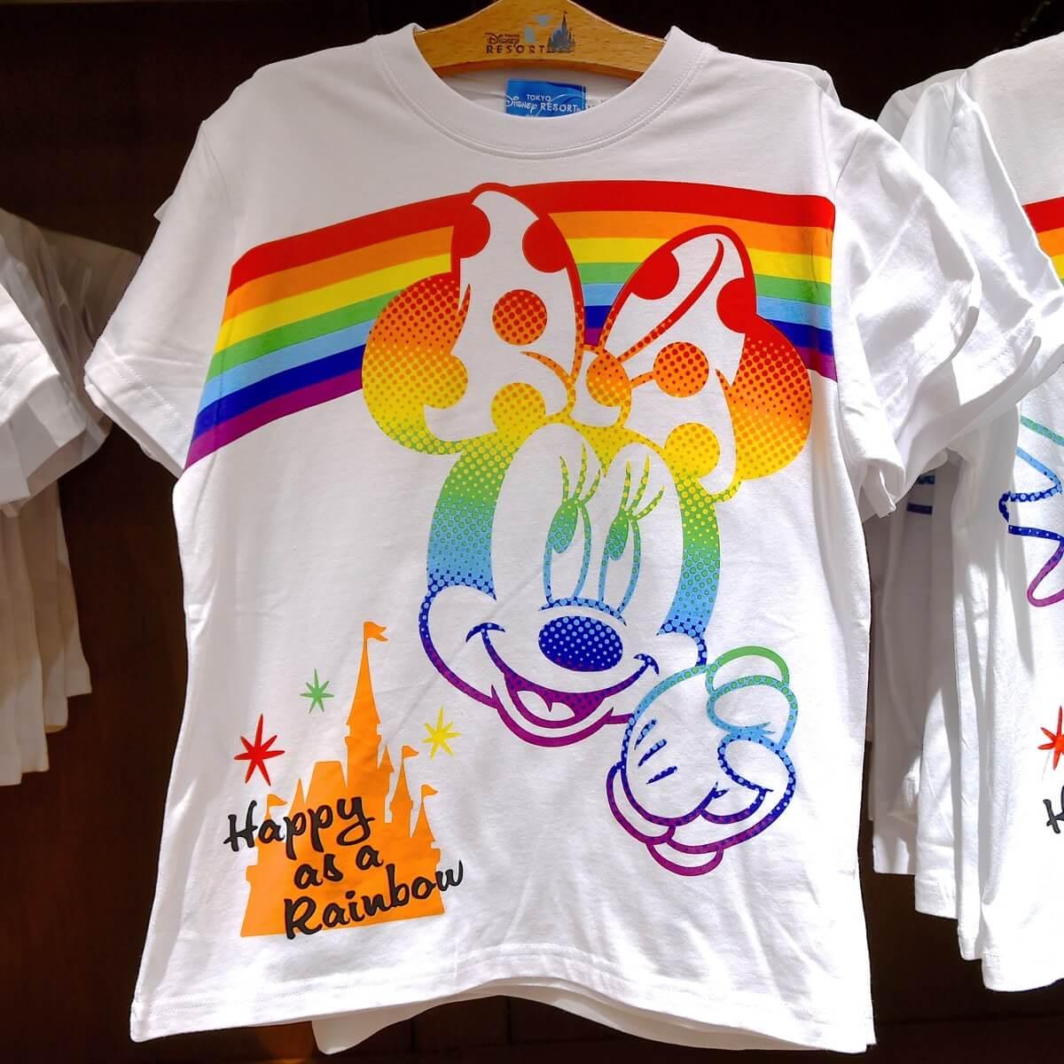 ミニーマウス&レインボーTシャツ