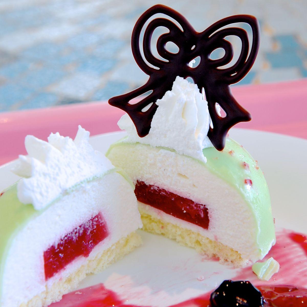 バニラムースケーキ 断面