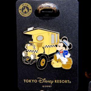 東京ディズニーシー「ミッキーマウス」&「ミッドタウンキャブ」ピンバッジ