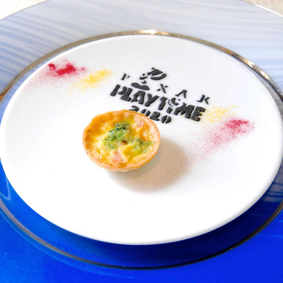 菜の花とベーコンの小さなキッシュ