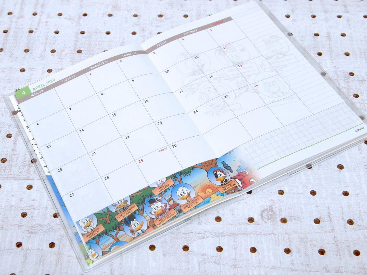 ブロックマンスリーカレンダーページ