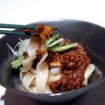 海鮮入りジャージャン刀削麺 アップ
