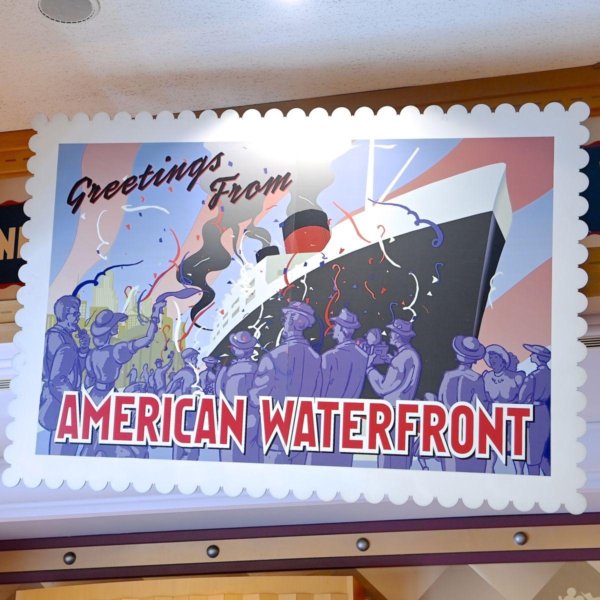アメリカンウォーターフロント 切手