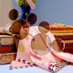 ミッキーシェイプファッション用グラス(ピンク)