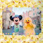 """東京ディズニーシー""""ディズニー・イースター2020""""スナップフォト ミッキーマウス&うさピヨ"""