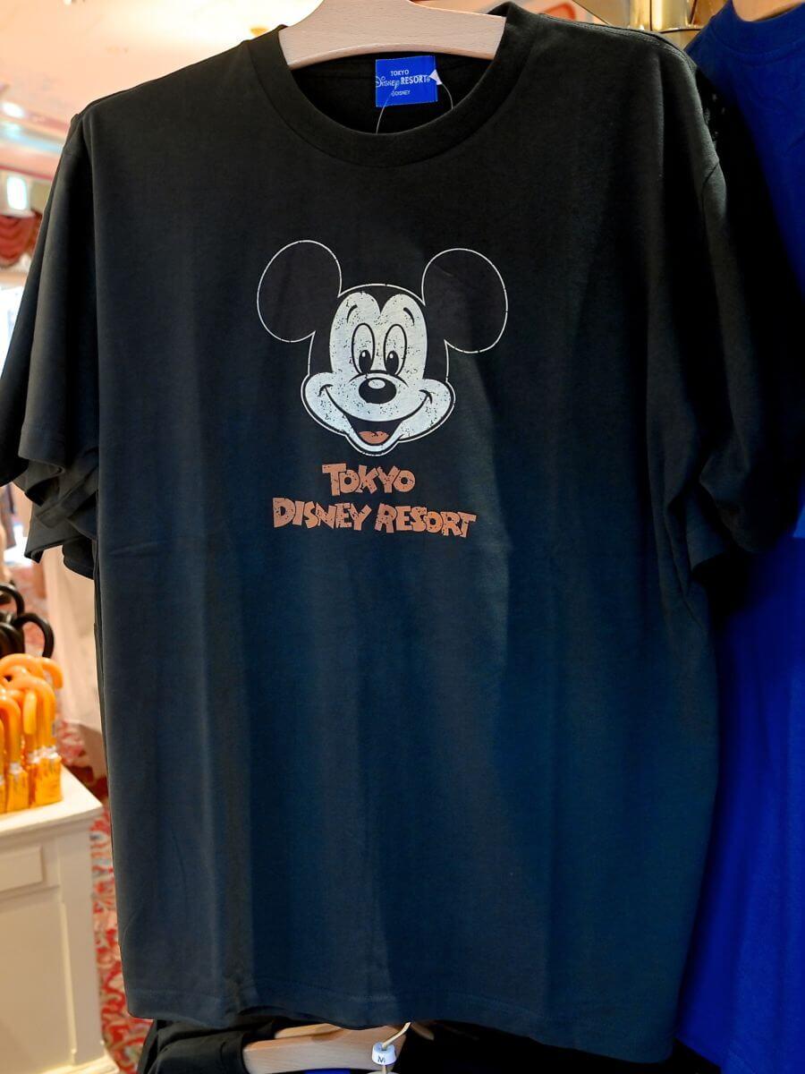 ミッキーマウスお顔デザインTシャツ1
