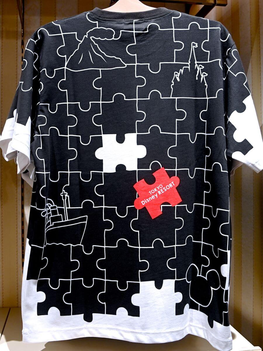 パズルデザインTシャツ バックデザイン